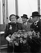 """20/09/1952<br /> 09/20/1952<br /> 20 September 1952<br /> Launch of the steamship """"Isolda"""" for Irish Lights, at the Liffey Dockyard Co. Ltd., Dublin. On right is Alfred Byrne."""