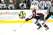 DALLAS, TX - NOVEMBER 1:  John Mitchell #7 of the Colorado Avalanche controls the puck against the Dallas Stars on November 1, 2013 at the American Airlines Center in Dallas, Texas.  (Photo by Cooper Neill/Getty Images) *** Local Caption *** John Mitchell