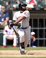 CHICAGO - MAY 05:  Jackie Bradley Jr. #19 of the Boston Red Sox bats against the Chicago White Sox on May 5, 2019 at Guaranteed Rate Field in Chicago, Illinois.  (Photo by Ron Vesely)  Subject:  Jackie Bradley Jr.
