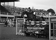 "08/08/1987<br /> 08/08/1987<br /> 08 August 1987<br /> RDS Horse Show, Ballsbridge, Dublin. The Irish Trophy - Grand Prix of Ireland. Michael Whitaker (Great Britain) on ""Next Warrenpoint""."