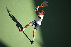 September 5, 2017 - New York City, New York, United States - Pablo Carrano Busta of Spain  competes against Diego Schwartsman (not seen) of Argentine during their 2017 US Open Men's Singles Round 4 match at the USTA Billie Jean King National Tennis Center in New York on September 5, 2017. (Credit Image: © Foto Olimpik/NurPhoto via ZUMA Press)