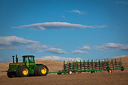 Farm tractor near the town of Palouse in the agricultural area of The Palouse in eastern Washington state.
