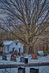 Funks Grove Chapel in snow