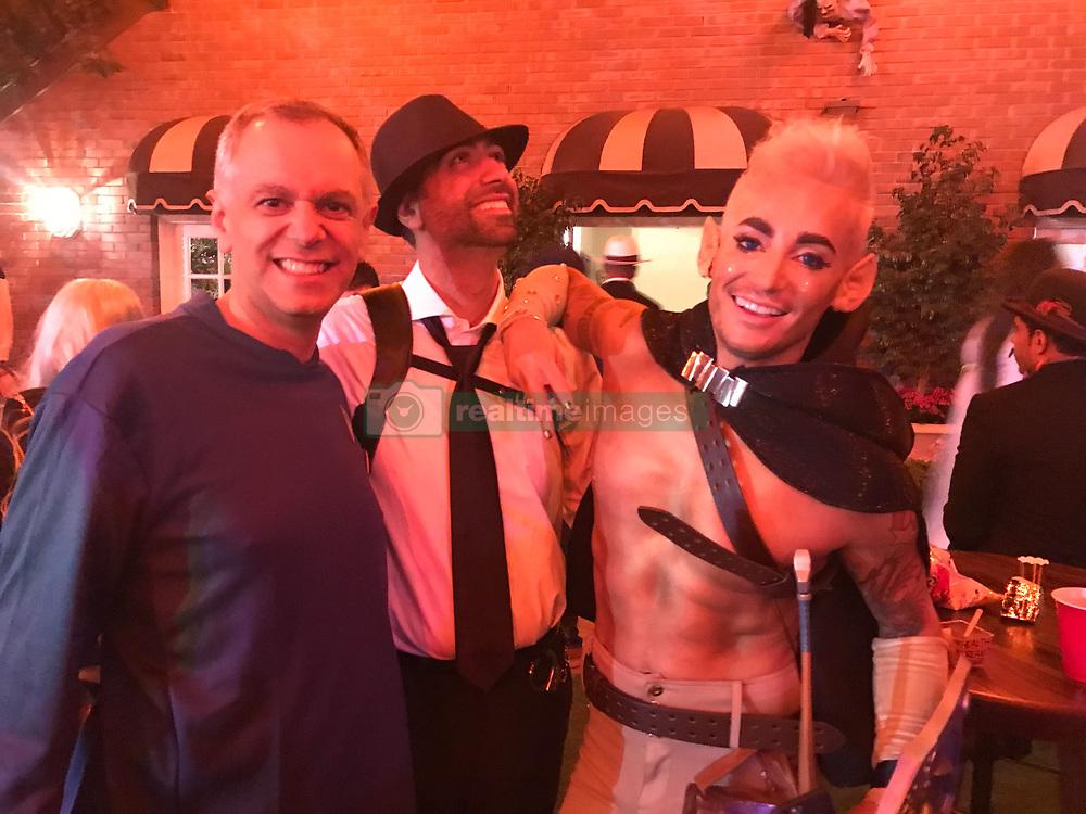 Paris and Prince Jackson hanging out at the Halloween Bash at Jackson Family Home. 28 Oct 2017 Pictured: Dr Peyman Gravori, Frank Grande, Dr Todd Gravori. Photo credit: The Blast.com / MEGA TheMegaAgency.com +1 888 505 6342