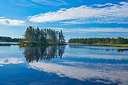 Cloud reflection in Moser River, Moser River, Nova Scotia, Canada