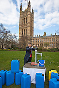 Sadiq Khan MP. Marking World Water Day, over 40 MP's walked for water at Westminster, London at an event organised by WaterAid and Tearfund. Globally hundreds of thousands of people took part in the campaign to raise awareness of the world water crisis.