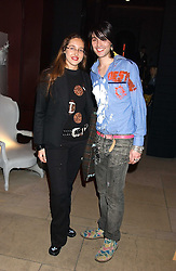 MR ROCKY MAZZILLI and MISS TATUM MAZZILLI  at a launch party for Kraken Opus's new luxury sports books held at Sketch, 9 Conduit Street, London W1 on 22nd February 2006.<br />