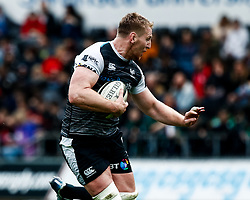 Bradley Davies of Ospreys<br /> <br /> Photographer Simon King/Replay Images<br /> <br /> Guinness PRO14 Round 18 - Ospreys v Dragons - Saturday 23rd March 2019 - Liberty Stadium - Swansea<br /> <br /> World Copyright © Replay Images . All rights reserved. info@replayimages.co.uk - http://replayimages.co.uk