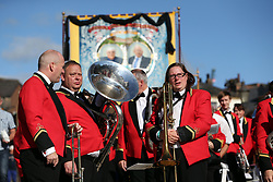 July 8, 2017 - Durham City, Durham, United Kingdom - Image ©Licensed to i-Images Picture Agency. 08/07/2017. Durham City, United Kingdom. 133rd annual Miners' Gala. Picture by Chris Booth / i-Images (Credit Image: © Chris Booth/i-Images via ZUMA Press)