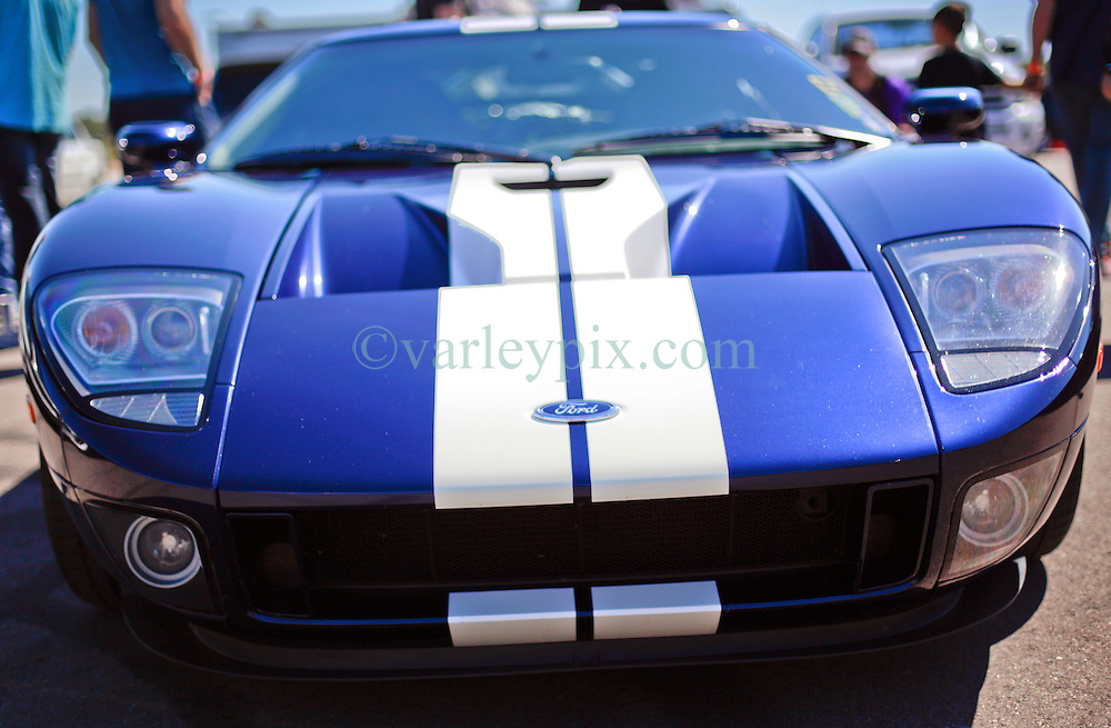 26 October 2013. New Orleans, Louisiana. <br /> A Ford GT, the modern day replica of the infamous GT40 Le Mans winner.<br /> Photo; Charlie Varley<br /> varleypix.com