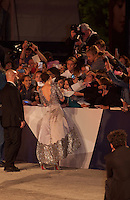Actress Kristen Stewart with fans at the gala screening for the film Equals at the 72nd Venice Film Festival, Saturday September 5th 2015, Venice Lido, Italy.