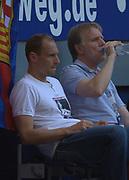 Fussball: International Friendly, 125 years, Hamburger SV - FC Barcelona 1:2, Hamburg, 24.07.2012<br /> goalkeeper Jarsolav Drobny (Hamburger SV)<br /> © Torsten Helmke