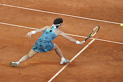 May 6, 2019 - Madrid, Spain - Carla Suarez Navarro of Spain in her match against Viktoria Kuzmova of Slovakia during day three of the Mutua Madrid Open at La Caja Magica on May 06, 2019 in Madrid, Spain. (Credit Image: © Oscar Gonzalez/NurPhoto via ZUMA Press)