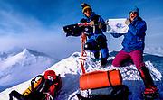 Mike McDowell (l) & Greg Mortimer, summit Vinson massif 1988, first Australians to climb highest peak in Antarctica, Ellsworth Mountains