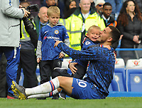 Football - 2018 / 2019 Premier League - Chelsea vs. Watford<br /> <br /> Chelsea's Eden Hazard with his two Children, at Stamford Bridge.<br /> <br /> COLORSPORT/ANDREW COWIE
