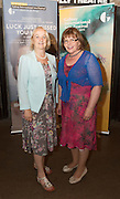 """Martina Moloney and Maureen Leyden  at the World Premiere of the """"Luck Just Kissed you Hello""""by Amy Conroy in the Mick Lally theatre (Druid) on the opening night of Galway international Arts Festival. Photo:andrew Downes xposure"""