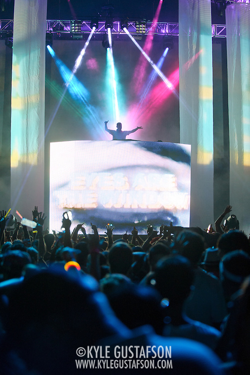 BRISTOW, VA - August 18th, 2011 - Kaskade headlines the Identity Festival at Jiffy Lube Live in Bristow, VA. The festival, touring for the first time this year, is bringing over 35 electronic artists to 20 cities over the course of the summer. (Photo by Kyle Gustafson/For The Washington Post)