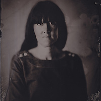 Hannah Vincent, tintype portrait made with wetplate collodion process.