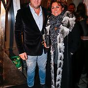 NLD/Rotterdam/20130119 - Silk party 2013, Christine Kroonenberg en ???.