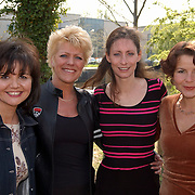 Presentatie genomineerden Musical Awards 2003, An Lauwereins, Simone Kleinsma, Pia Douwes en Maaike Widdershoven