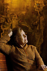Dona Maria Camargo, viuÃÅva do artista plaÃÅstico IbereÃÇ Camargo em sua resideÃÇncia. FOTO: Jefferson Bernardes/Preview.com