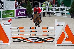 Vladimir Beletsky, (RUS), Rocketman 2 - Team & Individual Competition Jumping Speed - Alltech FEI World Equestrian Games™ 2014 - Normandy, France.<br /> © Hippo Foto Team - Leanjo De Koster<br /> 02-09-14
