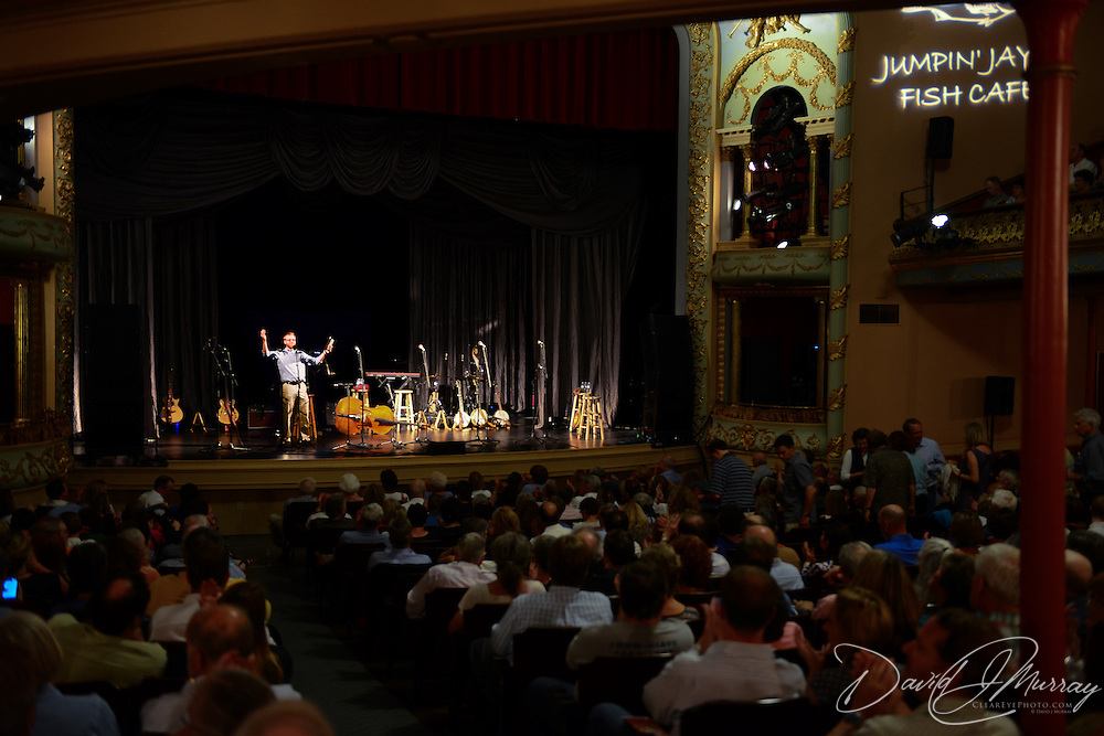 Monte introduces Steve Martin and the Steep Canyon Rangers featuring Edie Brickell before their performance at The Music Hall in Portsmouth, NH. June, 2014
