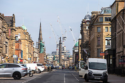 George Street earlier. Edinburgh on the day after the Lockdown.