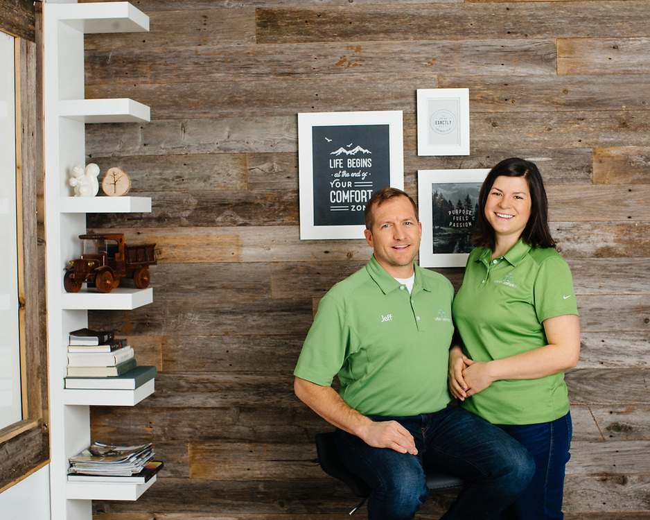 29 November 2018– Jeff and Amy Grewe are photographed at Arbor Aesthetics as the face of tree service for FACES 2019.