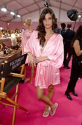 Sara Sampaio backstage during the Victoria's Secret Fashion Show 2016 held at The Grand Palais, Paris, France