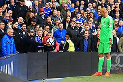 21 October 2017 -  Premier League - Chelsea v Watford - A fan offers the ball to Heurelho Gomes of Watford before pulling it away at the last minute - Photo: Marc Atkins/Offside