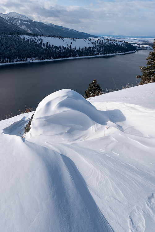 Glacial erratic (boulder) on Wallowa Lake's East Moraine, Wallowa County, Oregon.
