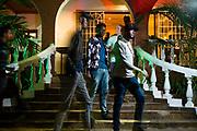 Trevor Maikweki enjoying a night at Js Fresh Bar and Grill in Nairobi, Kenya on Friday 20th of September.