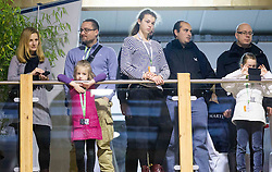 Rok Plestenjak with his family and Uros Urbas during Equestrian competition  FEI Grand Prix World Cup Celje 2014, on November 30, 2014 in Equestrian Centre Celje, Slovenia. Photo by Vid Ponikvar / Sportida