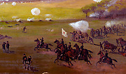 The Battle of Gettysburg 1894. View of the Union lines on the morning of July 3. Edwin Forbes.