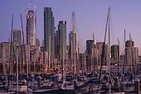 SF Skyline from South Beach Harbor, Morning