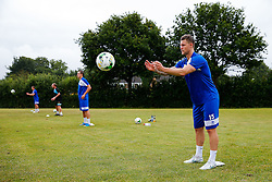 New Signing James Clarke in action as Bristol Rovers return to training ahead of their 2015/16 Sky Bet League Two campaign - Photo mandatory by-line: Rogan Thomson/JMP - 07966 386802 - 02/07/2015 - SPORT - Football - Bristol, England - The Lawns Training Ground, Henbury - Sky Bet League Two.