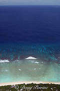 spur and groove formations on barrier reef ringing atoll at  Christmas (Kiritimati) Island, Line Islands, Republic of Kiribati (Central Pacific)