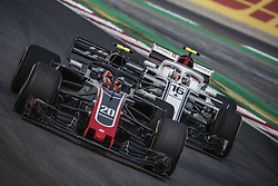 May 11, 2018 - Barcelona, Catalonia, Spain - KEVIN MAGNUSSEN (DAN) leads CHARLES LECLERC (MON)  during the first practice session of the Spanish GP at Circuit de Catalunya in his Haas VF-18 (Credit Image: © Matthias Oesterle via ZUMA Wire)