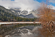 Grizzly Ridge, Winter Scenes, Reflection Pool, Cool Water Pools, Genesee Valley Ranch, Willow, Livestock Pond, California Mountains, Sierra Nevada Mountains, Fresh Snow, Sierra Mist