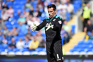 Millwall goalkeeper David Forde looks on. Skybet football league championship, Cardiff city v Millwall at the Cardiff city stadium in Cardiff, South Wales on Saturday 18th April 2015<br /> pic by Andrew Orchard, Andrew Orchard sports photography.