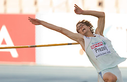 Rozle Prezelj of Slovenia competes during the men's high jump qualifications at the 2010 European Athletics Championships at the Olympic Stadium in Barcelona on July 27, 2010. (Photo by Vid Ponikvar / Sportida)
