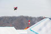 Oystein Braaten, Norway, at thePyeongchang 2018 Winter Olympics men's freestyle ski slopestyle qualifications on February 18th 2017, at the Phoenix Snow Park inPyeongchang-gun, South Korea.