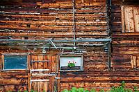 Golzern, Switzerland - front of a wooden barn.