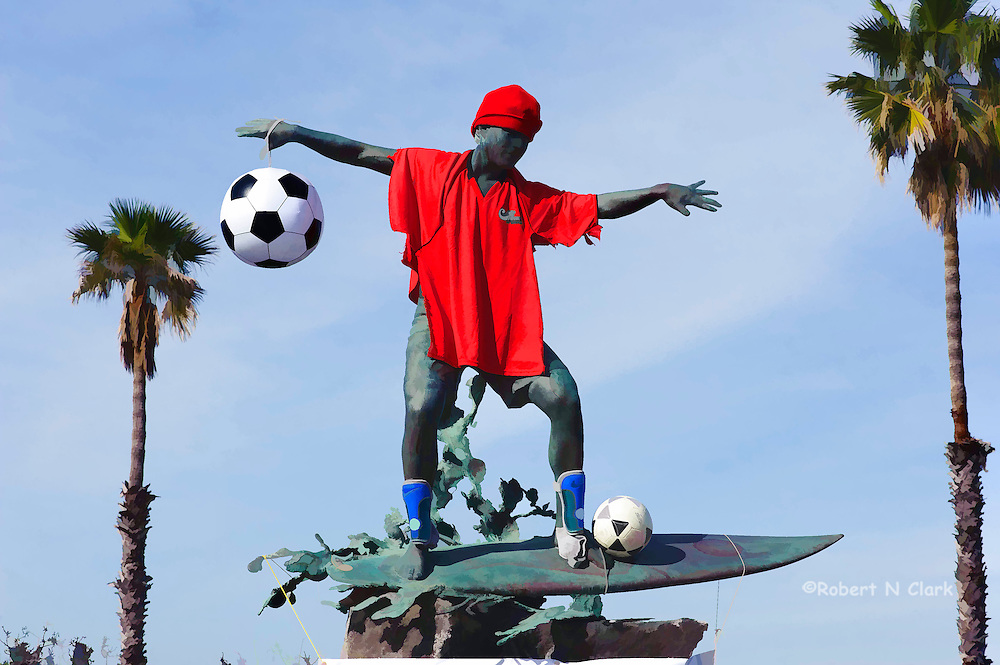 The Cardiff Kook in soccer garb from the Cardiff Soccer League