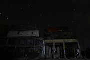 Nov. 18, 2015 - Aleppo, Syria - <br /> <br /> Syria Confict<br /> <br /> Damaged buses are positioned atop a building as barricades to provide protection from snipers of the forces of Syria's President Bashar al-Assad in in the old city of Aleppo, Syria, on November 18, 2015.<br /> ©Exclusivepix Media