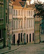 Street scene in the old city, Warsaw, Poland