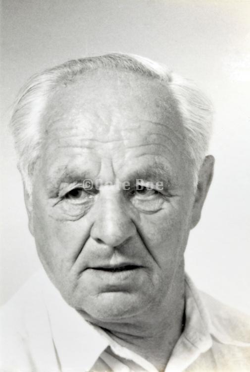 identity portrait of a senior man
