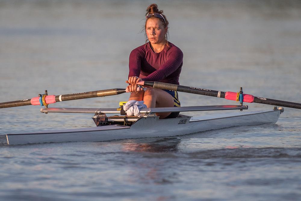 Macaela Turfus, Dunstan Arm Rowing Club<br /> <br /> SRPC squad training on the lower Waimakariri River, Stewarts Gully, Canterbury. Monday 19 November 2018 © Copyright photo Steve McArthur / @RowingCelebration