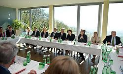 27.04.2012, Kahlenberg, Wien, AUT, Bundesregierung, Klausurtagung der oesterreichischen Bundesregierung, im Bild Tagungsrunde // during convention of the austrian government, Kahlenberg, Vienna, Austria on 2012/04/27, EXPA Pictures © 2012, PhotoCredit: EXPA/ M. Gruber